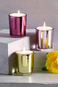 Set of 3 Floral Candles