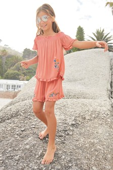 Embroidered Co-Ord Set (3-12yrs)