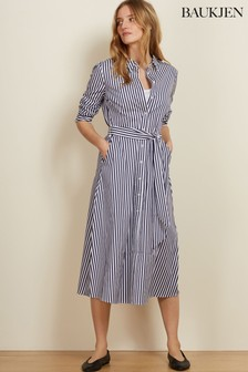 Baukjen Navy/White Stripe Shirting Madeline Dress