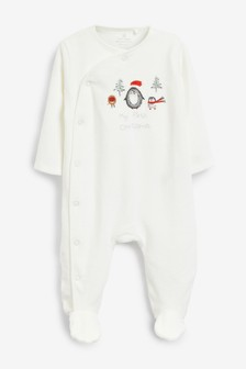 My First Christmas Velour Sleepsuit (0-18mths)