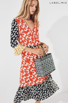Next/Mix Floral Print Wrap Dress
