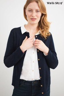 White Stuff Navy Lola Crew Neck Cardigan