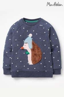 Boden Navy Fluffy Friends Sweatshirt