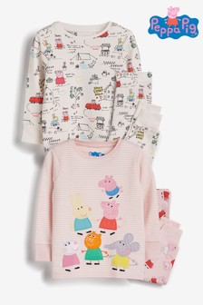 Lot de 2 pyjamas confortables Peppa Pig™ (9 mois - 6 ans)