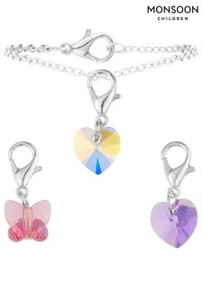 Monsoon Changeable Charm Bracelet With Swarovski® Crystals And Gift Box