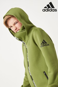 adidas Olive Winterized Zip Through Hoody