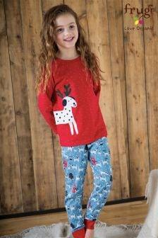 Frugi Red Jamie Dotty Dalmation Pyjama