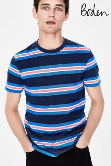 Boden Navy Wide Stripe T-Shirt