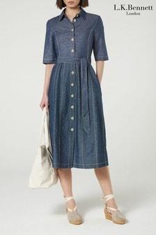 L.K.Bennett Blue Suze Denim Dress