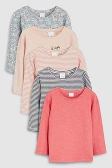 Long Sleeve T-Shirts Five Pack (3mths-7yrs) d31e225d4