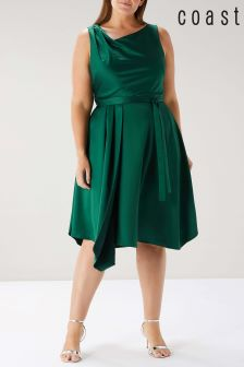 Coast Green Curve Savannah Knot Midi Dress