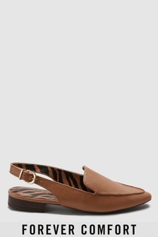 Point Slingback Loafers