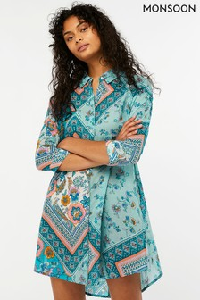 Monsoon Blue Mariana Shirt Dress