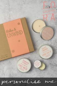 Personalised Relax And Unwind Box Gift Set by Fora Creative