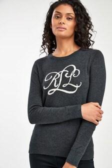 Lauren Ralph Lauren® Grey Logo Navella Jumper