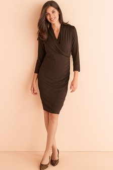 Maternity Nursing Wrap Dress