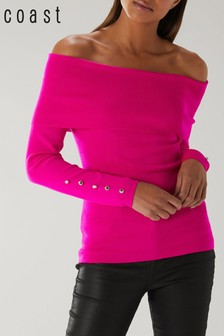 Coast Pink Bayli Bardot Knit