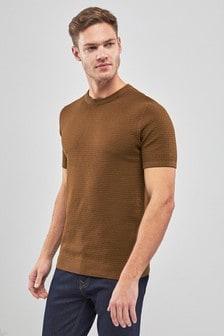 Strukturierter Pullover mit Rundhalsausschnitt