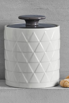 Embossed Ceramic Jar