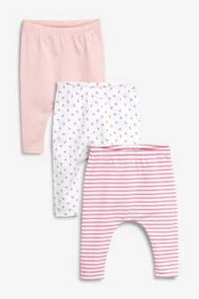 Strawberry Leggings Three Pack (0mths-2yrs)