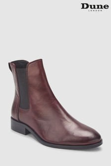 Bottines Chelsea Dune London rouge épuré