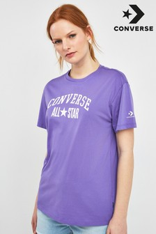 Converse All Star T-Shirt, Violett