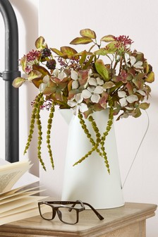 Artificial Autumn Hydrangea In Jug