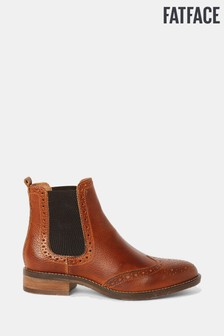 FatFace Brown Bude Brogue Chelsea Boots