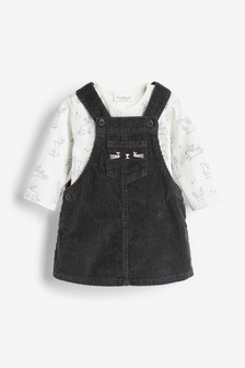 Cord Pinafore Dress and Bodysuit Set (0mths-2yrs)