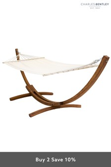 Free Standing Cream Canvas Garden Hammock by Charles Bentley