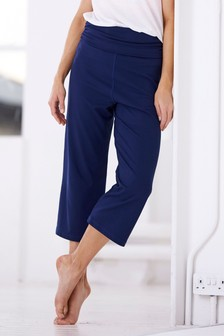 Roll Top Cropped Yoga Trousers