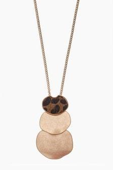 Leopard Print Effect Necklace