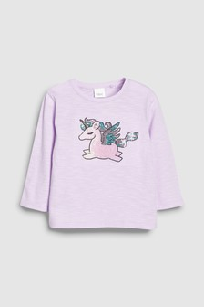 Sequin Unicorn T-Shirt (3mths-6yrs)