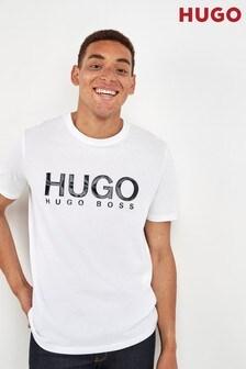 HUGO White Dolive Logo T-Shirt