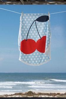 Round Cherry Beach Towel