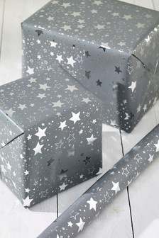 6m Star Print Wrapping Paper