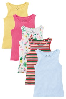 Tropical Vests Five Pack (3-16yrs)