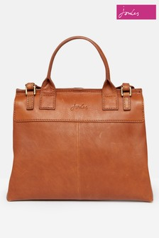 Joules Brown Molton Suede Tote Bag