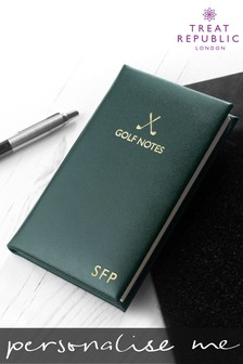 Personalised Leather Golf Notes by Treat Republic