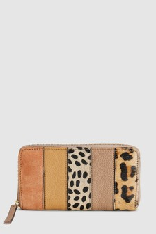 95eb4990ee Buy Animal Print Leather Colourblock Purse from the Next UK online shop