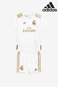 adidas White Real Madrid FC 19/20 Baby Mini Kit