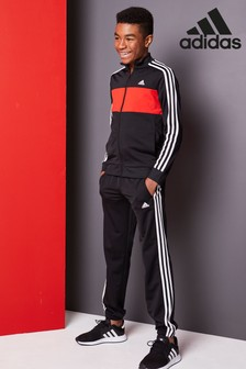 80fe23c26a49 Add to Favourites. adidas Tiberio Black Red Tracksuit