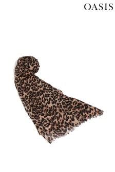 Oasis Animal Sable Animal Print Scarf