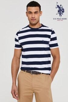 U.S. Polo Assn Bluerugby Stripe T-Shirt
