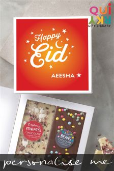 Personalised Eid Two Bar Chocolate Card By Quirky Gift Library