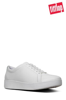 FitFlop™ White Tennis Leather Trainer