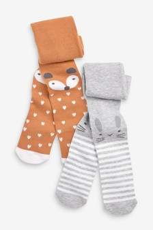 2 Pack Character Tights (0mths-2yrs)