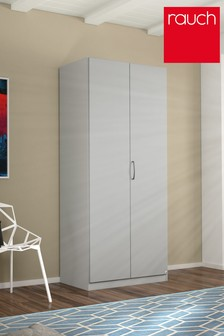 Cameron Grey Double Hinged Wardrobe by Rauch