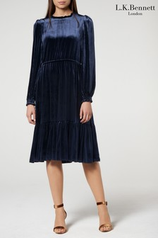 L.K.Bennett Blue Noemi Dress
