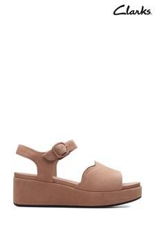 Clarks Dark Blush Suede Kimmei Way Sandals